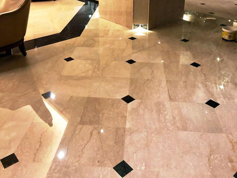 Crowne Plaza marble after grinding