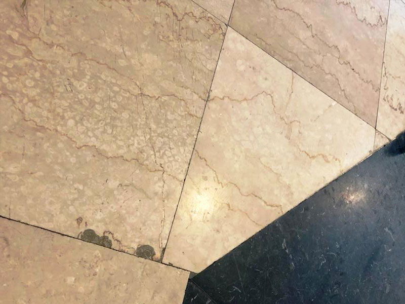 Crowne Plaza marble before grinding