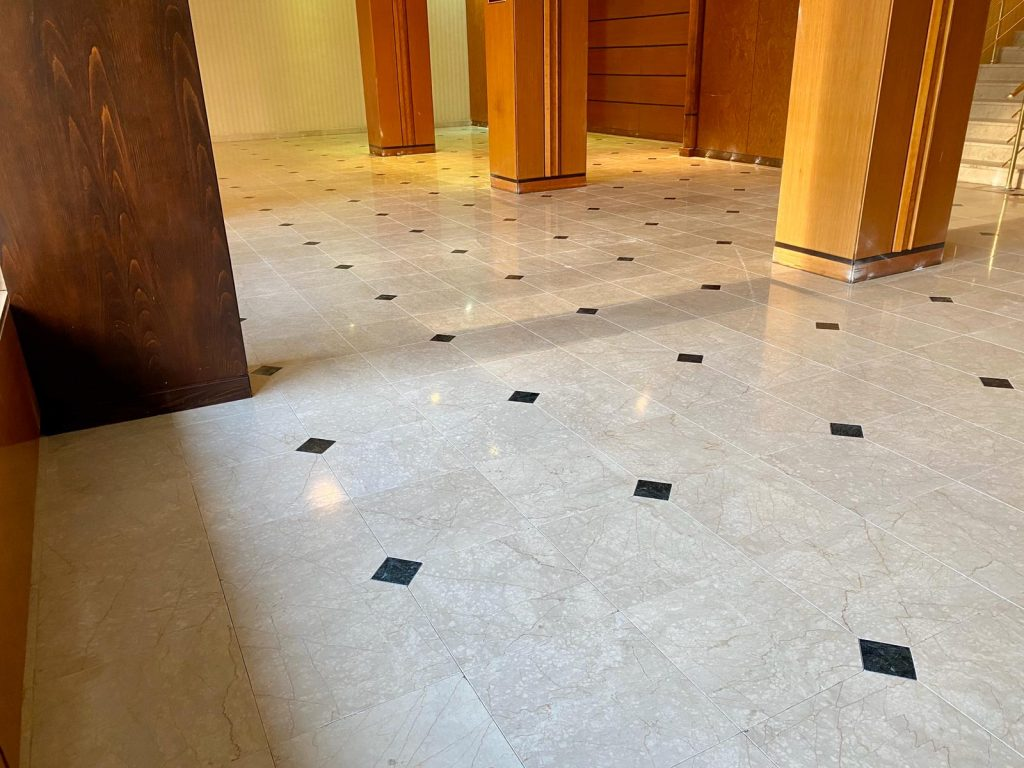 Renovated marble floor