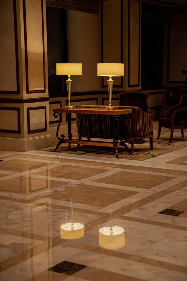 Șlefuire marmură la hotelul Hilton